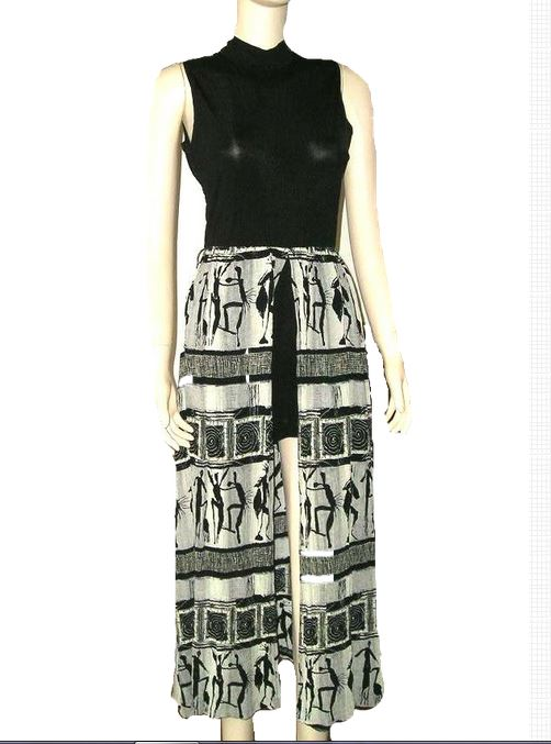 362b5e3b12 One of a Kind 1969 JOSEPH RIBKOFF Couture Black and Beige Maxi Dress ...