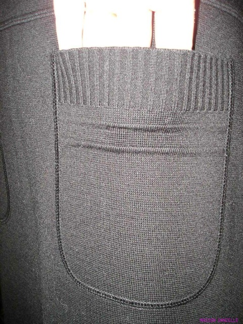 ff60797f634 SONIA RYKIEL Black Tight Knit Casual Skirt with Side Slits and Patch  Pockets - New with Tags