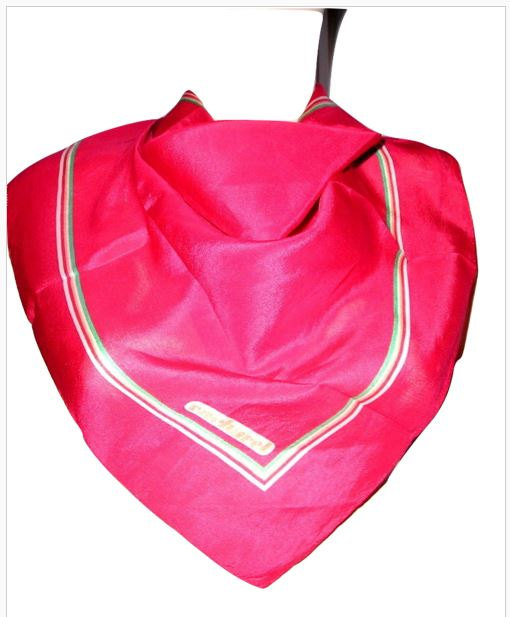 96d3e9eb8fb Vintage 60s CACHAREL Paris Red Silk Pochette Scarf French Minimalist Mod  Silk Scarf